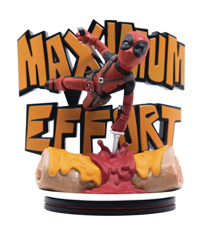 Multicolor MVL-0027 Quantum Mechanix Figura QFIG Marvel Deadpool Maximum Effort