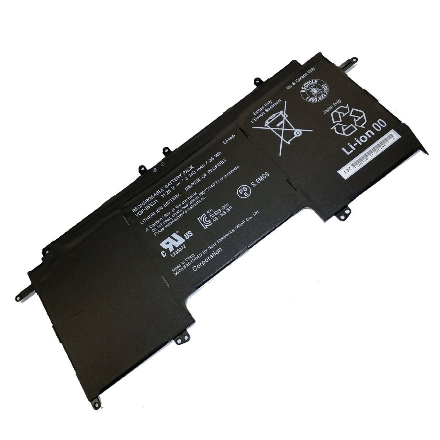 Amazon.com: 36WH VGP-BPS41 Battery For Sony Vaio Flip 13 SVF13N SVF13N13CXB Laptop: Computers & Accessories