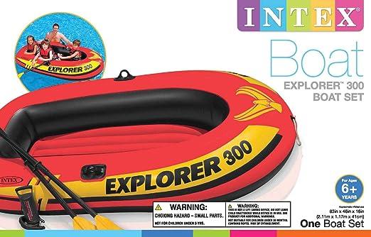 Amazon.com: Intex Explorer 200 - Bote hinchable para 3 ...