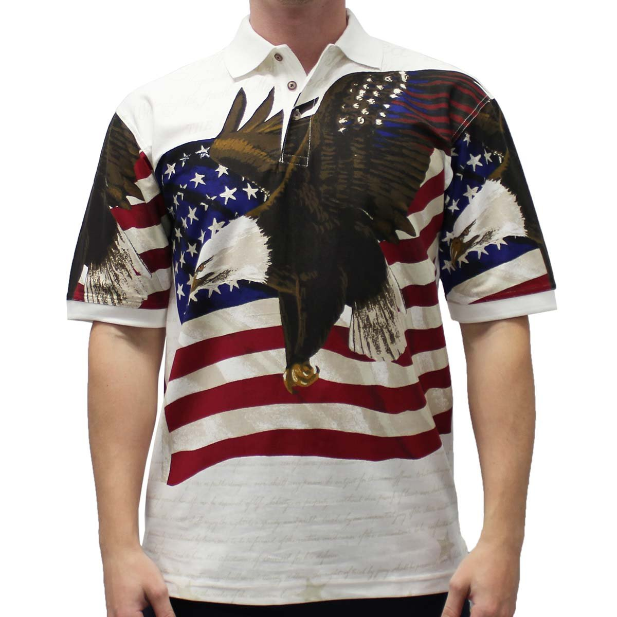 b3926123a Cotton Traders Allover Patriotic Men's Polo Shirt at Amazon Men's Clothing  store: