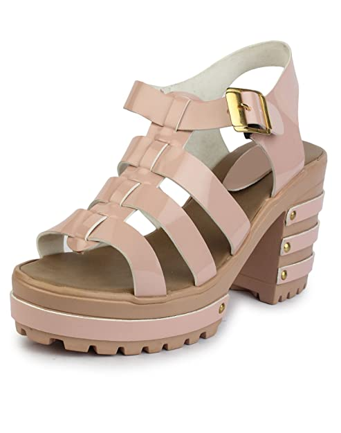 c99373d8a6c Do Bhai Women s Synthetic Block Heels  Buy Online at Low Prices in ...