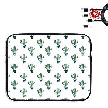 Lupoow - Funda para Ordenador portátil de 13-15 Pulgadas, diseño de Flores, Color Azul Design14 13 IN: Amazon.es: Jardín