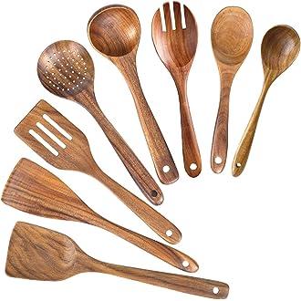 utensilios de cocina color beige Godong utensilios de cocina Soporte para cuchara para el hogar cucharones y pinzas