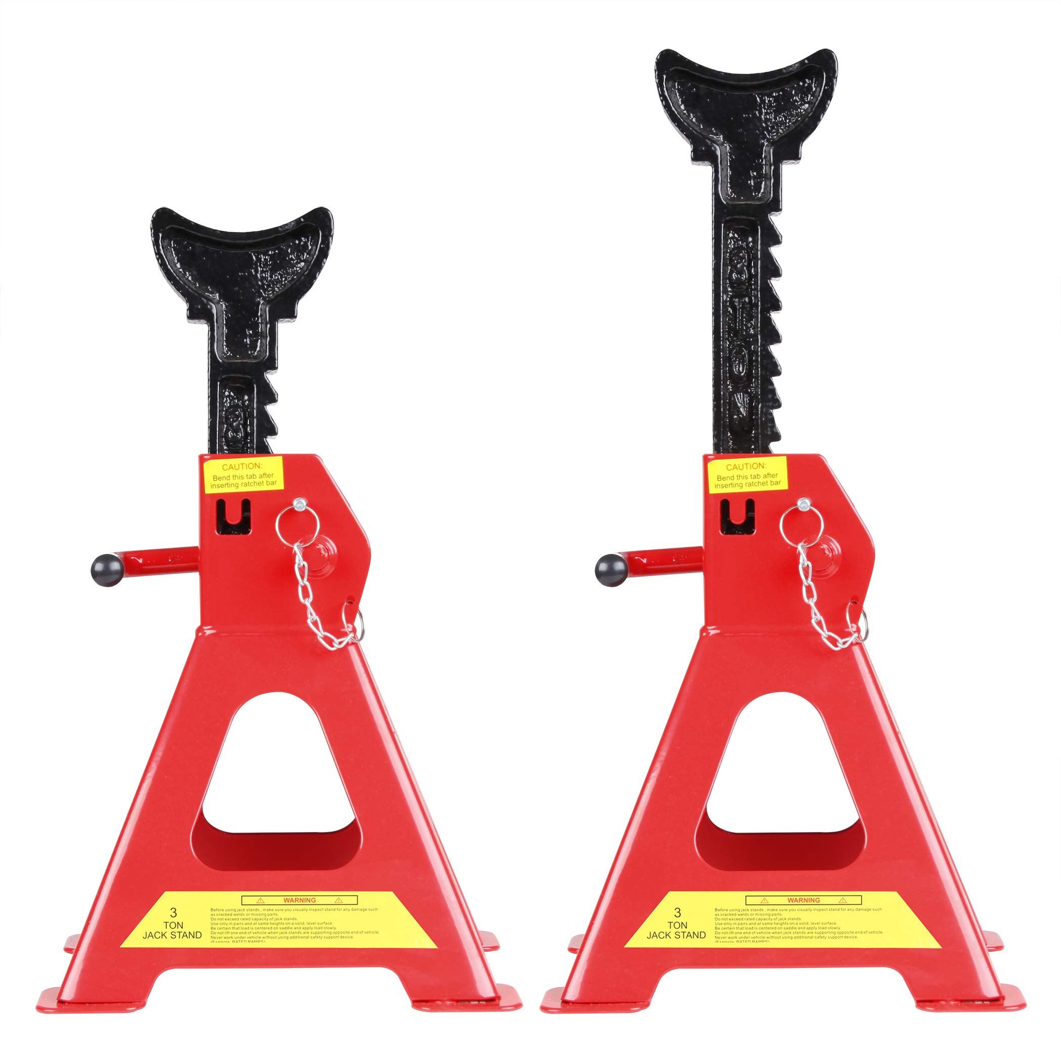 CARTMAN 3 Ton Double Locking Jack Stands with Safety Pin (Sold in Pairs) by CARTMAN