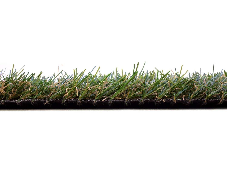 2,50m x 0,50m Florh/öhe 30mm Terrasse und Garten Kunststoffrasen UV-Best/ändiger Rollrasen Kunstrasen Rasenteppich Meterware Arizona mit Drainage Wasserdurchl/ässiger Kunstrasen f/ür Balkon