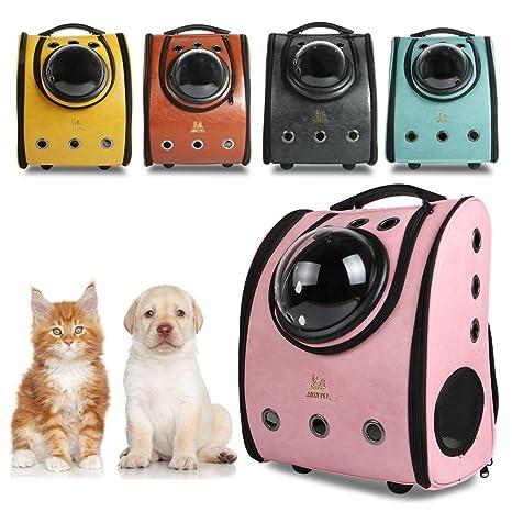 Mochila Cápsula para Mascotas, Mochila para Gatos, Perros, en forma de Burbuja,