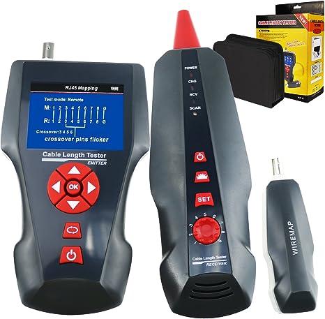 TEKCOPLUS - Cable de red multifuncional, rastreador STP/UTP 5E 6E, cable coaxial de red para RJ45, RJ11, BNC, PING/PoE: Amazon.es: Informática