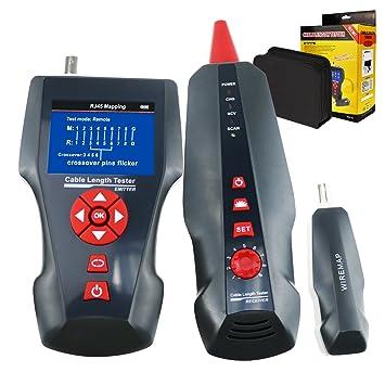 Multifuncional medidor de comprobador de cable de red STP/UTP 5e 6e Cable Coaxial red
