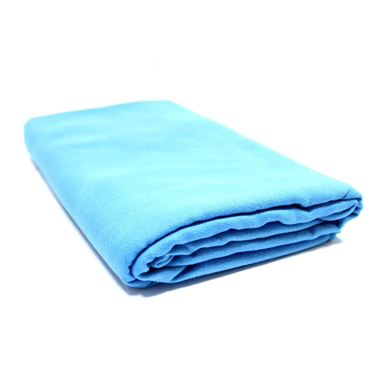 Camping /& Hiking Towel Ultra Absorbent 80x130cm Free Storage Bag With Medium /& Large Towels Beach /& Sports Lightweight Home /& Gym Quick Drying Microfiber Towel Travel Pukkr Blue Medium