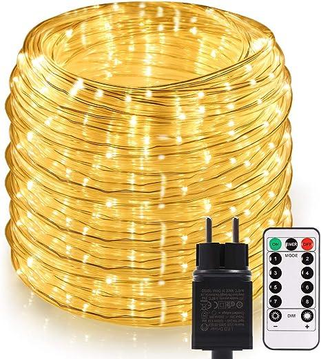 Lichterschlauch weiß 50m Lichterkette Lichtschlauch Weihnachtsbeleuchtung Party