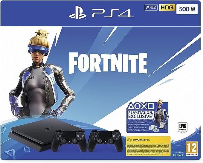 PlayStation 4 Slim - Konsole (500GB, Jet Black) + 2 Controller: Fortnite Neo Versa Bundle [Importación alemana]: Amazon.es: Videojuegos