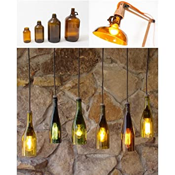 Cortador de botellas de cristal, kit de corte de botella de cerveza Pawaca para manualidades, lámpara de botella de vino, adorno, decoración, ...
