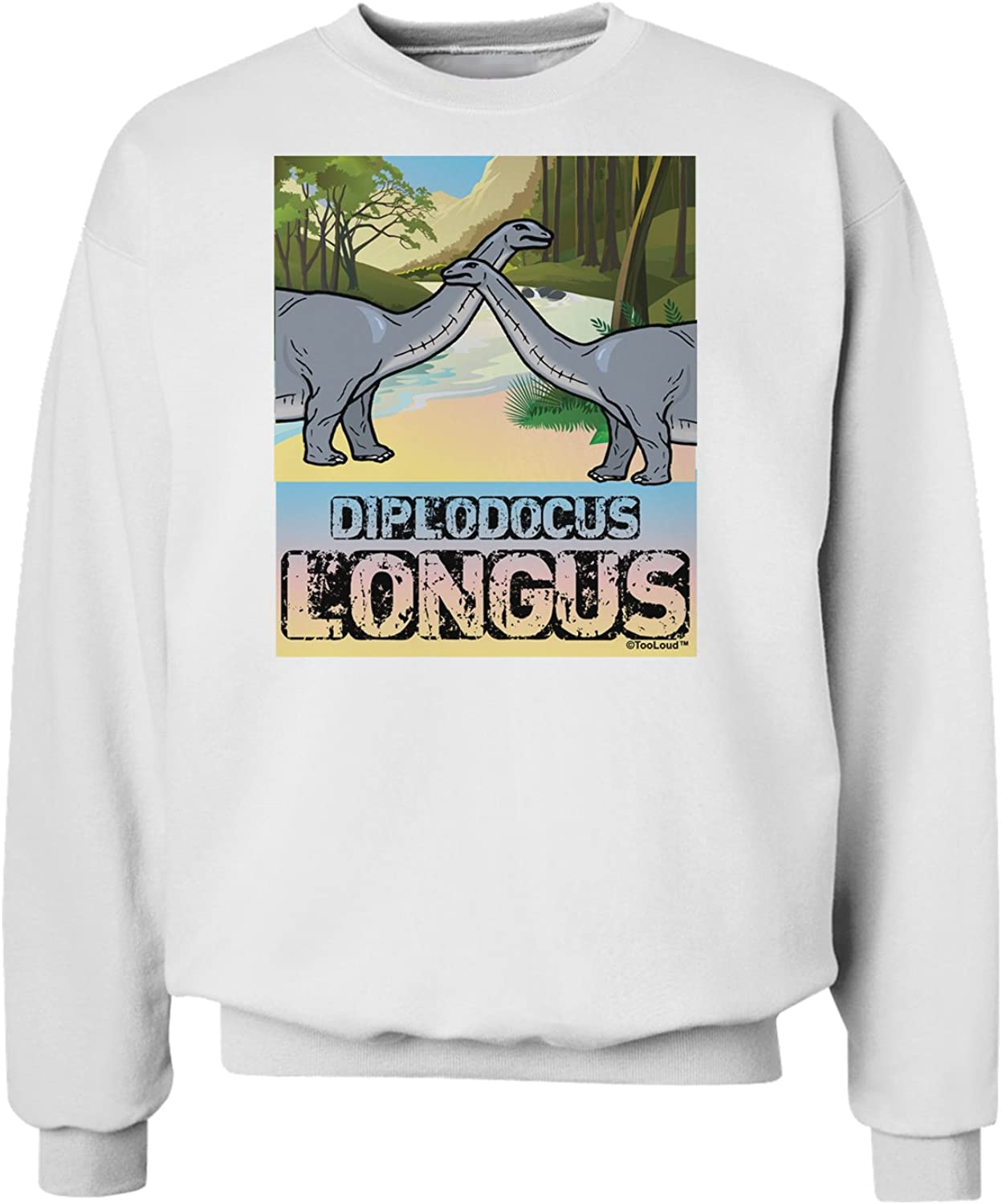 TooLoud Diplodocus Longus with Name Sweatshirt