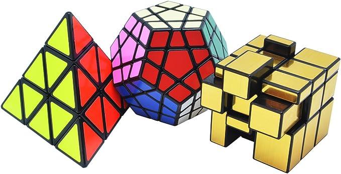 TOYESS Cubo Mágico Pack ,Pyraminx Piramide Triangolo Speed Cube ...