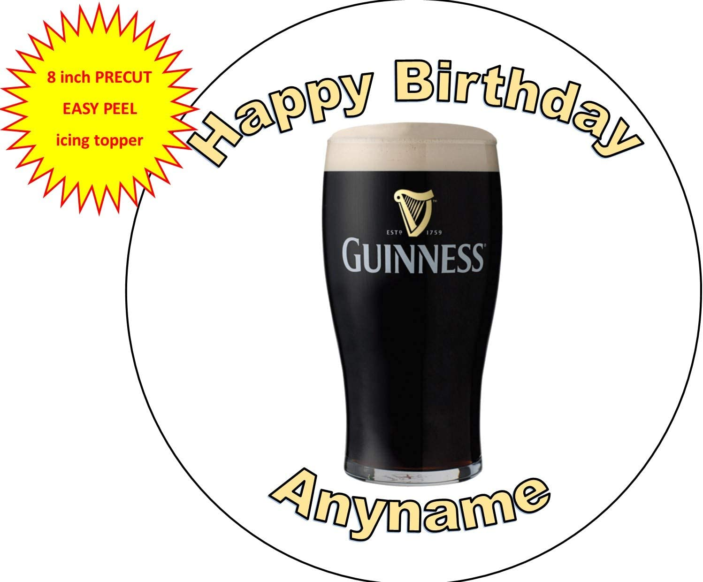 Irishmans personalised guinness birthday cake topper
