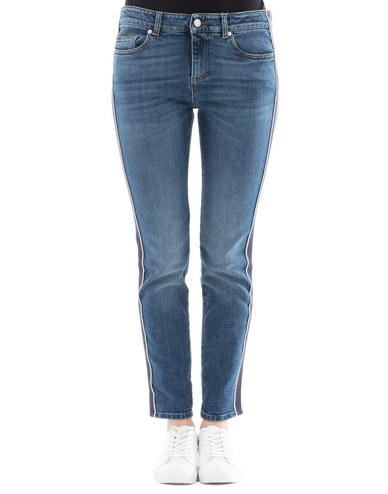 Alexander McQueen Women's 501957Qkm034340 Blue Cotton Jeans