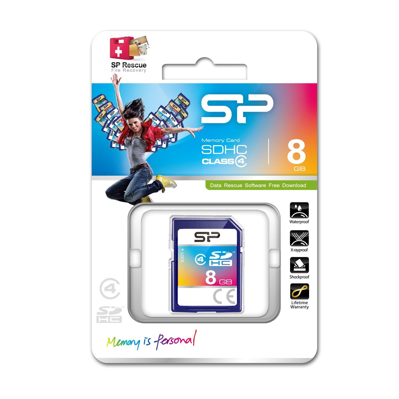 Silicon Power 8GB Class 4 SDHC Memory Card