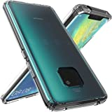 Huawei Mate 20 Pro Case, OUBA [Shock Absorbing] Air Hybrid Slim Thin Shockproof Armor Anti-Drop Crystal [Clear] Back + TPU Bumper Protective Case Cover Compatible for Huawei Mate 20 Pro - Clear