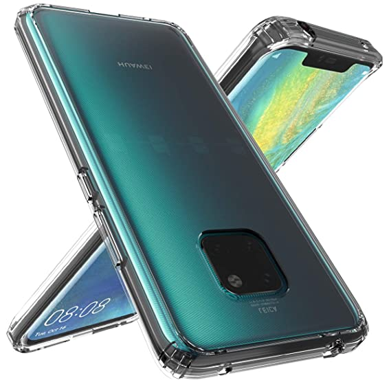 wholesale dealer 56932 3a7dd Huawei Mate 20 Pro Case, OUBA [Shock Absorbing] Air Hybrid Slim Thin  Shockproof Armor Anti-Drop Crystal [Clear] Back + TPU Bumper Protective  Case ...