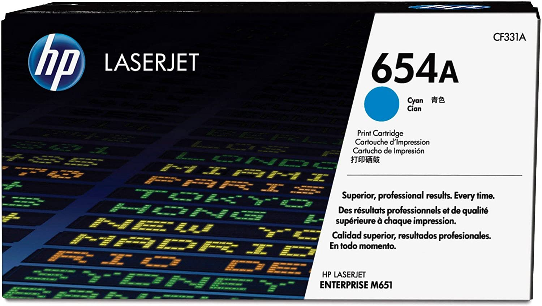 HP 654A | CF331A | Toner Cartridge | Cyan