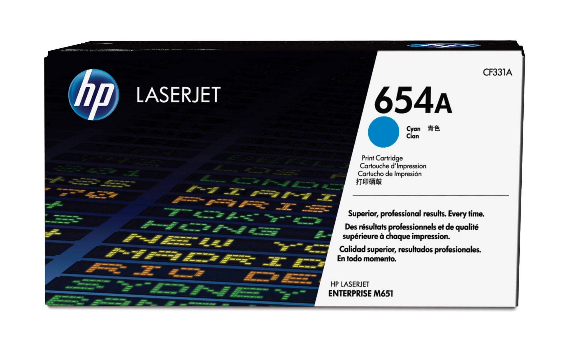 HP 654A (CF331A) Cyan Original Toner Cartridge