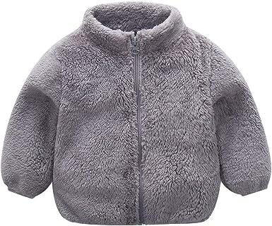 Tronet Baby Girl Coat Toddler Kids Baby Gril Boy Cute Ear Zipper Solid Thick Hooded Coat Warm Outwear