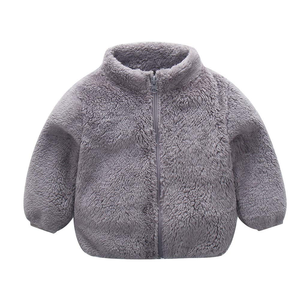 Sameno Baby Girls Kids Cute Autumn Winter Solid Cardigan Outwear Jacket Button Warm Coat Clothes