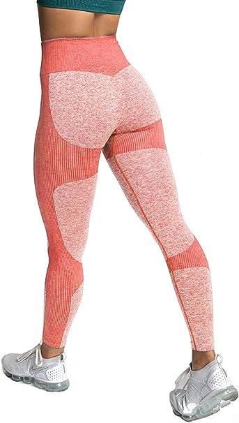 Imagen deMemoryee Stretch Pantalones de yoga de cintura alta para mujer Control de barriga Leggings de entrenamiento Medias flacas de compresión
