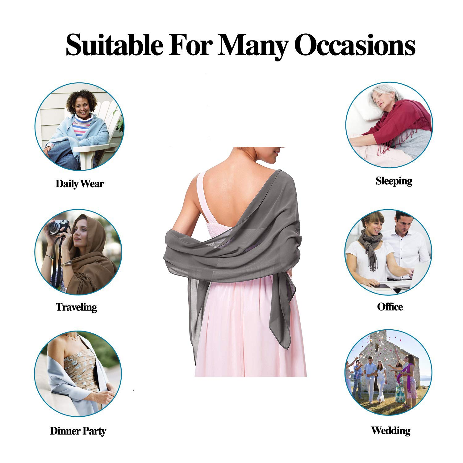 Fashion Luxurious Silk Scarves Travel New Year Party Swimwear Scarves Stole