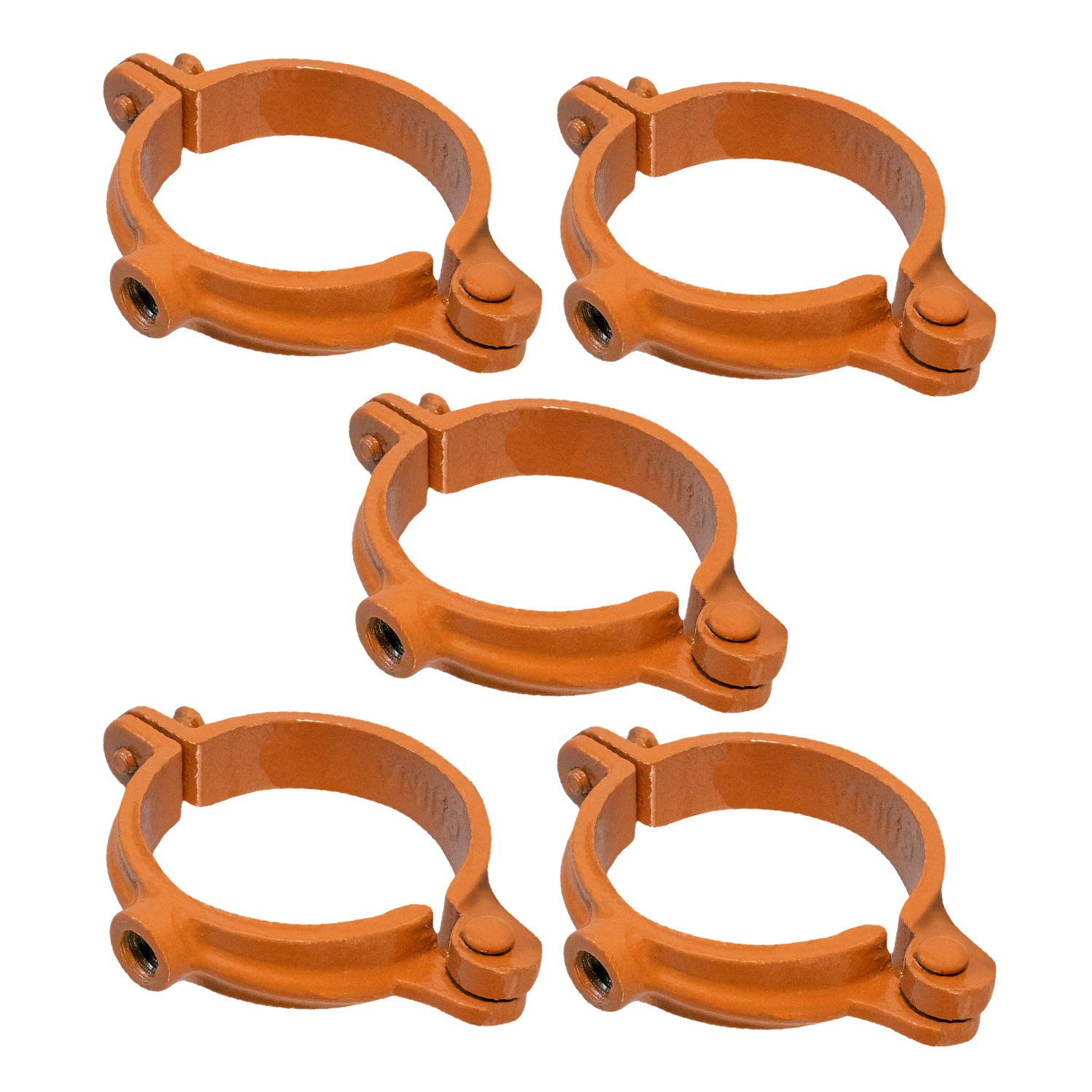 Copper Epoxy Coated Iron Highcraft HSH-CP03-5 Hinged Split Ring Pipe Hanger 3 in 5 Pieces