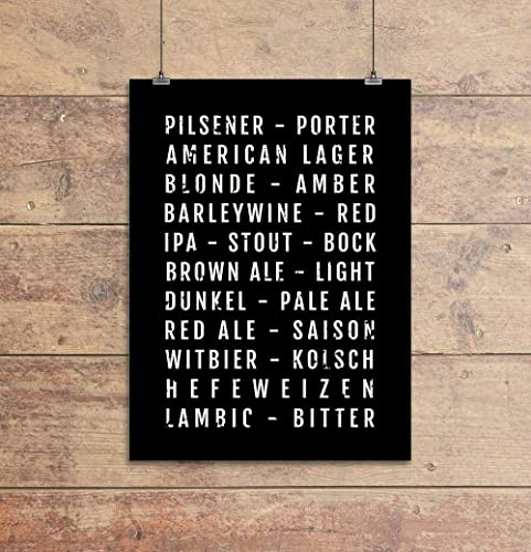 Amazon.com: Beer Print - Craft Beer - Home Bar - Subway Poster ...