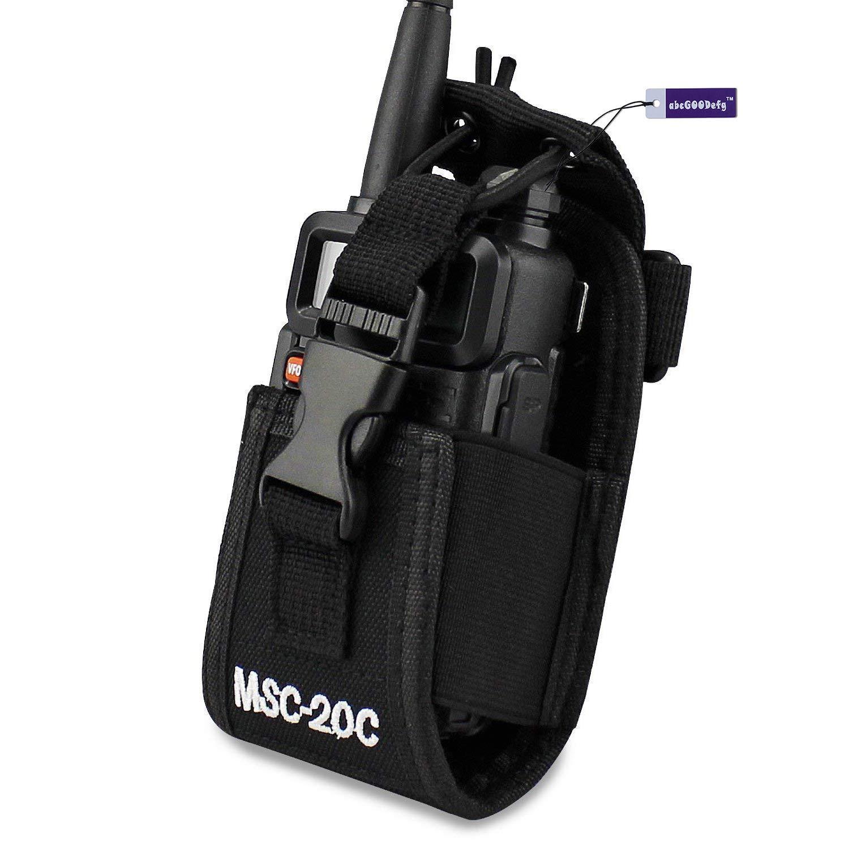 abcGoodefg 3 in1 Multi-Function Radio Holder Holster Case Pouch Bag for GPS Kenwood Yaesu Icom Motorola baofeng UV5R UV82 TYT UV5RA HYT 888S Retevis H777 Two Way Radio Walkie Talkie MSC 20C (1 Pack) MSC-20C