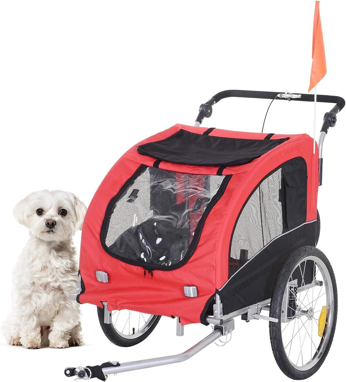 Bicycle Trailer Stroller Canopy Child Kids Jogger Carrier Folding Dog Bike Value