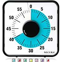 Secura Kitchen Timer 60-Minute Mechanical Visual Timers for Cooking, 7.5-Inch Oversize Countdown Clock for Teaching…