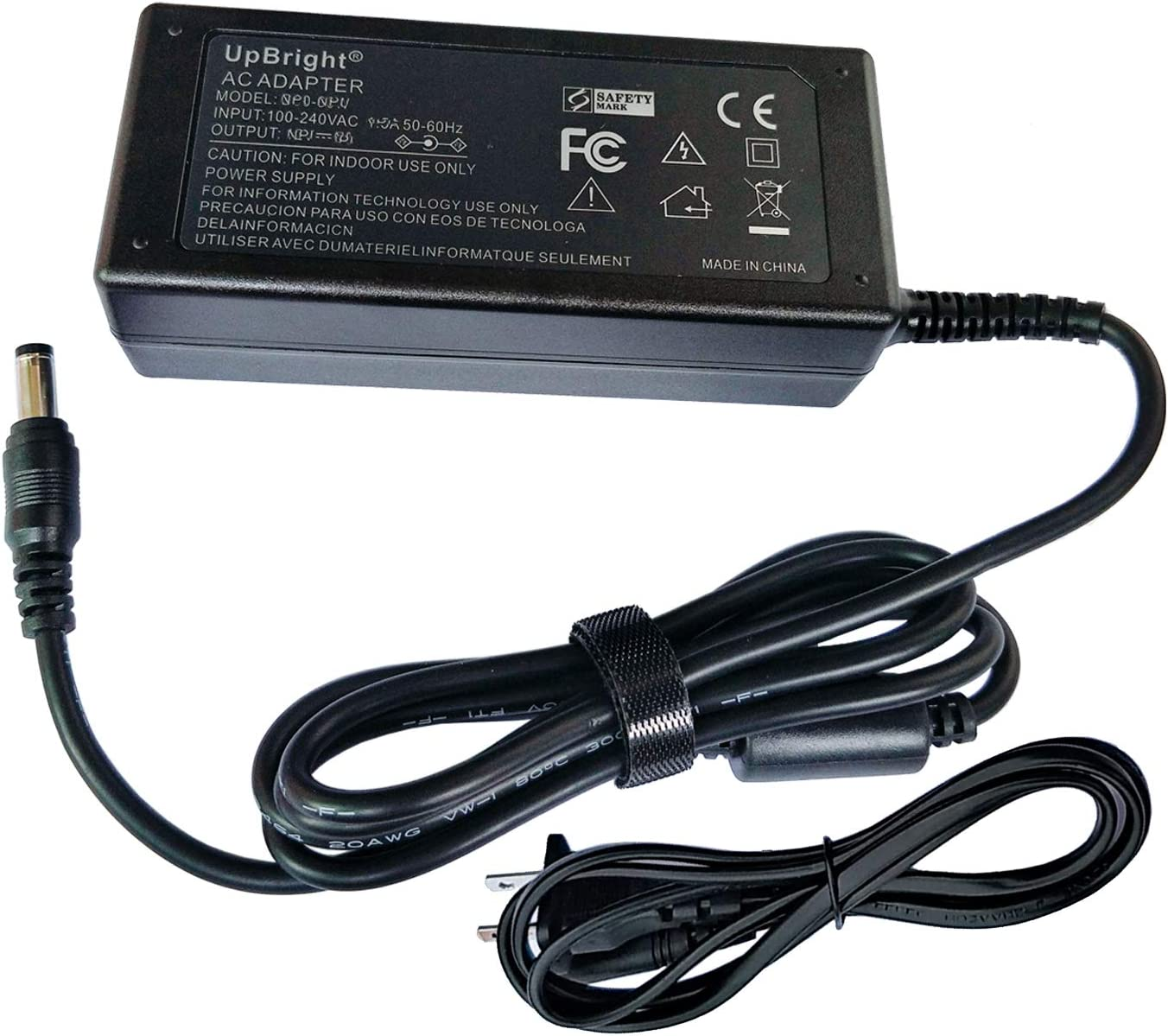 UpBright New Global 12V AC/DC Adapter Compatible with Dell S2216M S2216H 216Mc S2216Hc S2218H S2218Hc S2318H S2318HX S2318Hc LED Backlight LCD Monitor 12VDC 12.0V Power Supply Cord Cable PS Charger