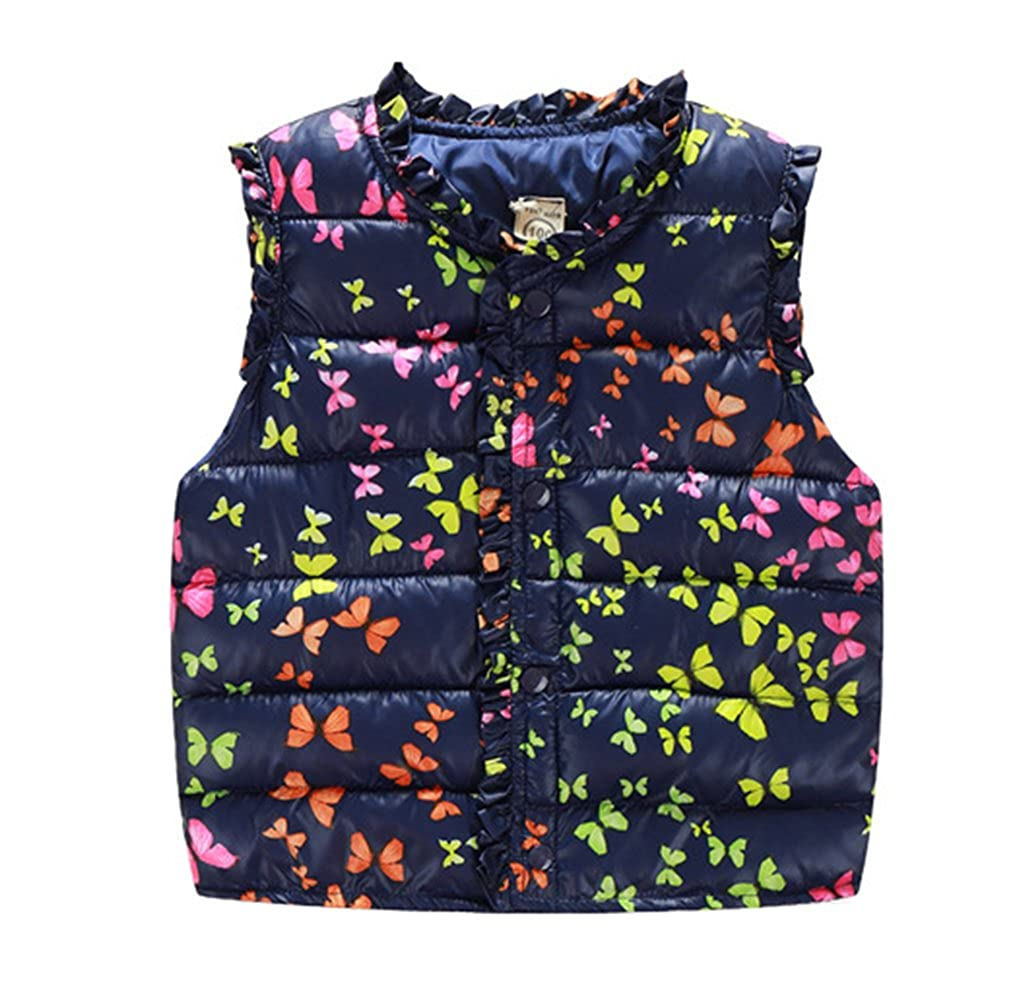 66c758af8267 Amazon.com  Taiycyxgan Little Girls Winter Vest Coat Kids Butterfly ...