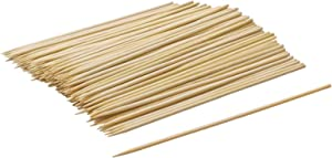 Bamboo Skewers 6 inch,Natural Bamboo Skewers for BBQ,Corn Dog Sticks,Skewer Sticks,Wooden Kebab Skewers -Skewers for Fruit Kabobs,Appetizer, Chocolate Fountain, Cocktail More Food (6 inch(100 Pack))