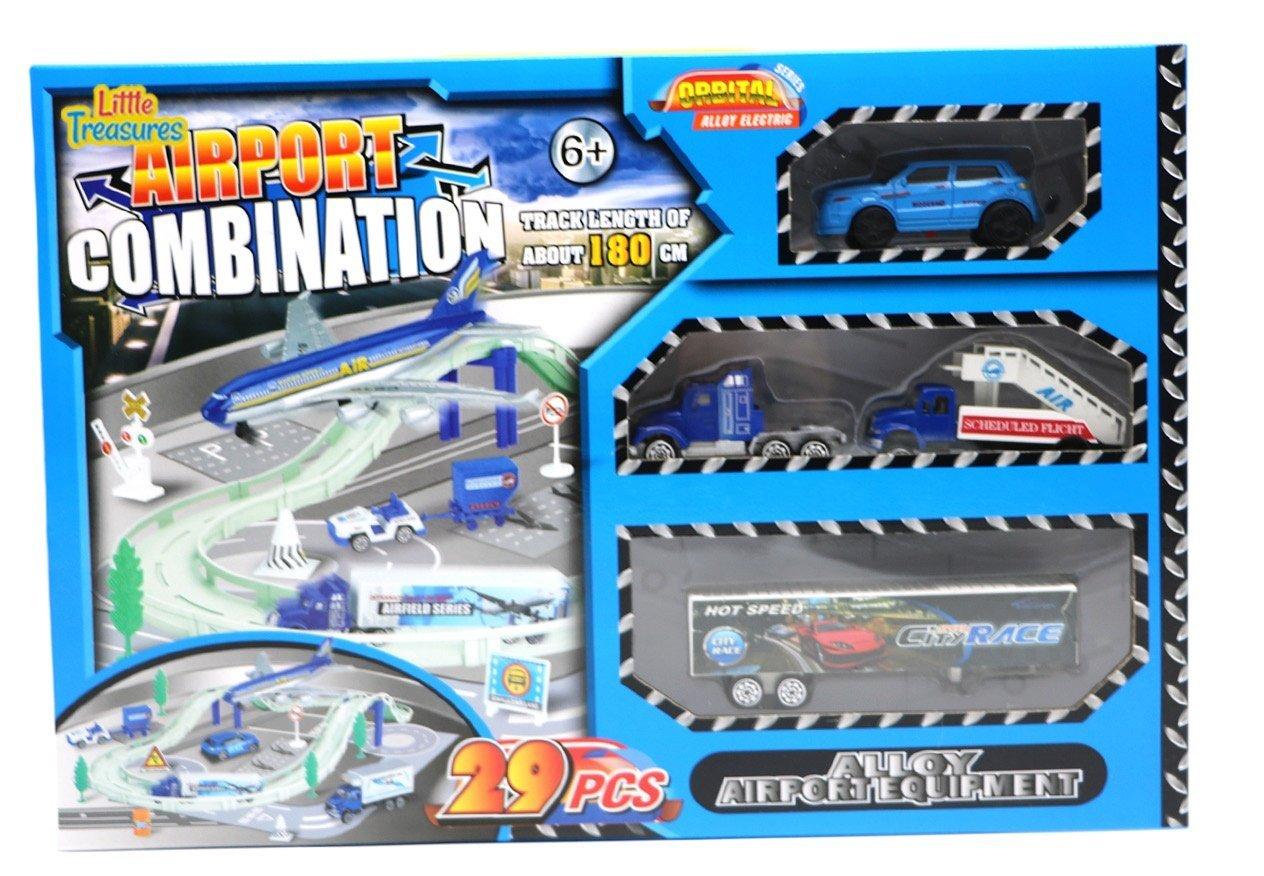 ZERBO TRACK SET Airport Combination Race Track Set, 29 Piece