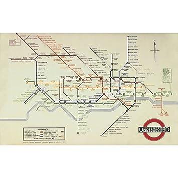 Map Of Uk 1000.Robert Frederick London Underground Map Harry Beck 1933 Jigsaw