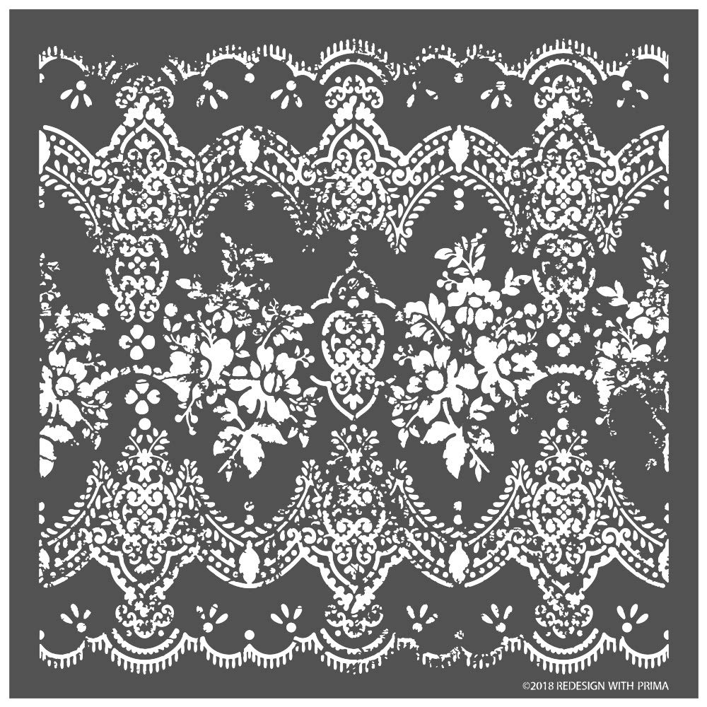 Prima Marketing Inc Redesign 3D Stencil - Distressed Lace Mixed by Prima Marketing
