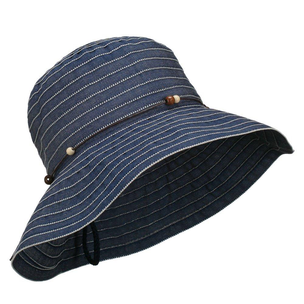 7d8bb00276b Adjustable Crushable Bucket Hat - Denim OSFM at Amazon Women s Clothing  store