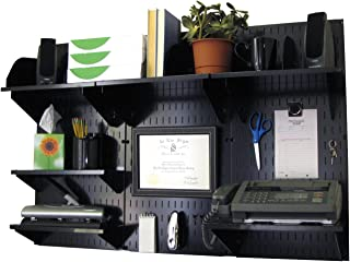 product image for Wall Control Office Organizer Unit Wall Mounted Office Desk Storage and Organization Kit Black Wall Panels and Black Accessories