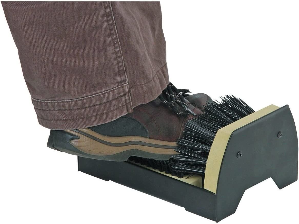 SHOE BRUSH MOUNT BOOT POLISH CLEANING MOUNTED REMOVES MUD DIRT SCRAPER CA11