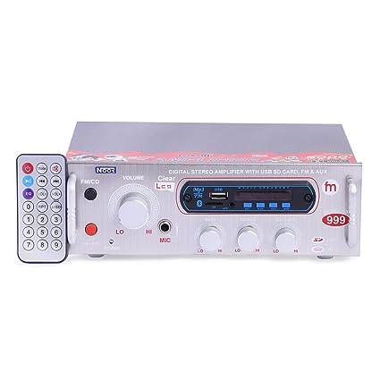 Noor Amplifier USB, Bluetooth, Aux, MMC,FM & Double IC 4440
