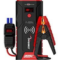 ROOBOOST™ UPGRADED 1500A Peak Ultra-Safe Car Jump Starter (Up to 7L Gas and 5L Diesel) with Digital Display, Wireless…