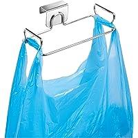 InterDesign Classico Over Cabinet Plastic Bag Holder – Storage Organizer for Kitchen, Chrome