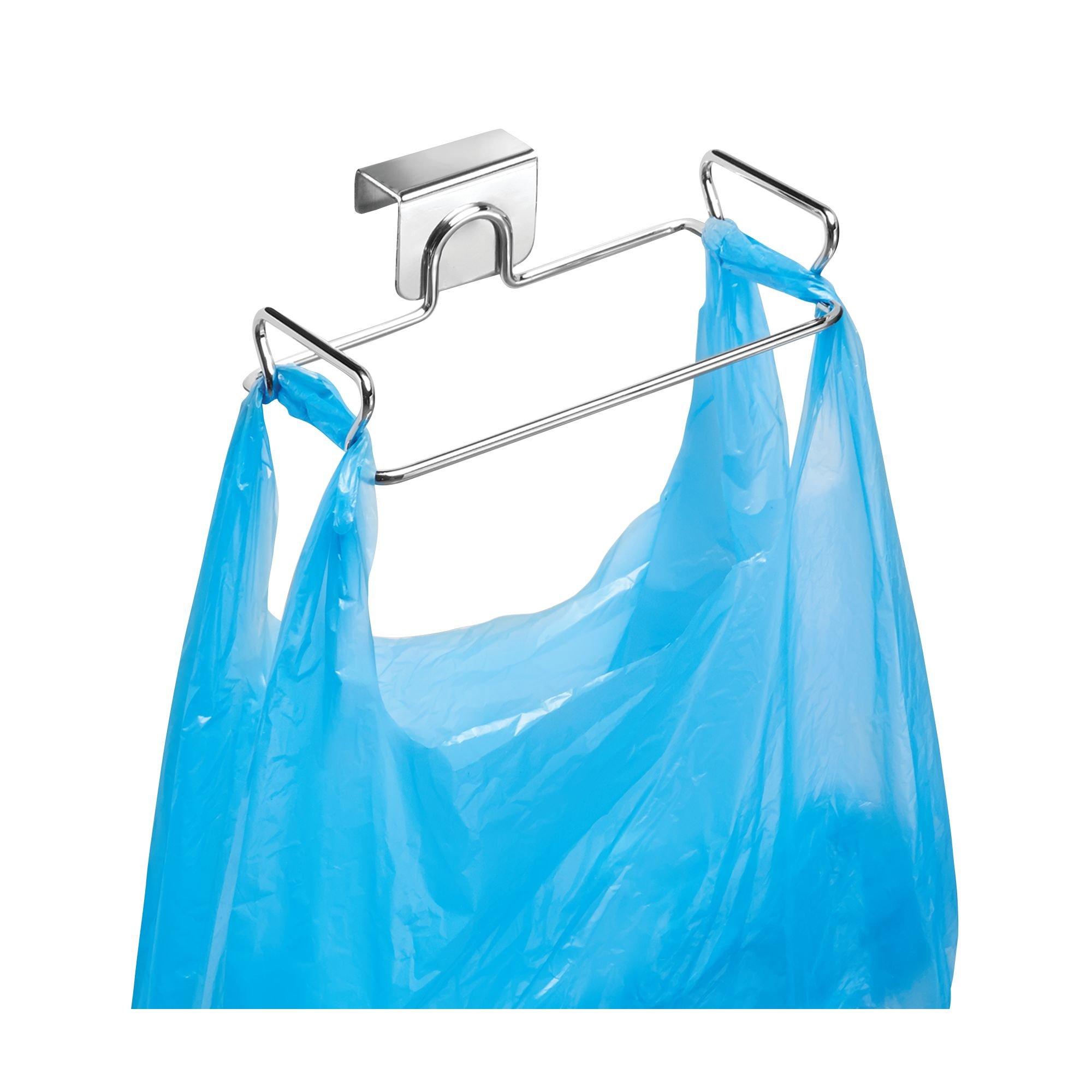 InterDesign Classico Soporte para bolsas de basura, pequeño colgador de puerta en metal, colgador