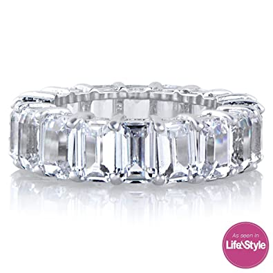 eternity cubic bands zirconia cz ring stackable band promise