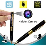 Bysameyee Meeting Video Recorder Camera Pen, Mini Portable DVR Cam Wireless PenCam Security Camcorder (Pack of 1)