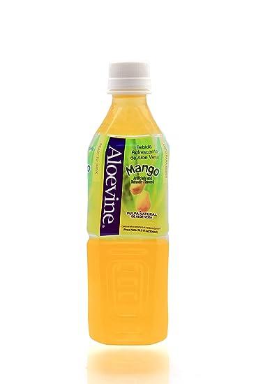 Aloevine Aloe Vera Drink (Mango, 16.9 oz 10 Pack)